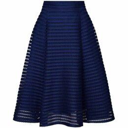 Yumi Curves Fishnet Knee Length Plus Size Skater Skirt