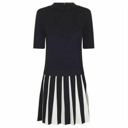 Ted Baker Pleat Skirt Knitted Flippy Dress
