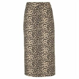 Mint Velvet Animal Print Jacquard Skirt