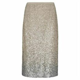Mint Velvet Neutral Ombre Sequin Skirt