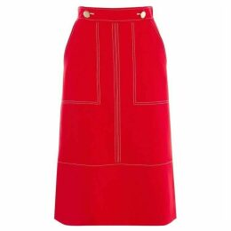 Karen Millen Contrast Stitch Skirt