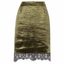 Therapy London Leysa metallic lace trim pencil skirt