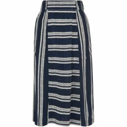 Whistles Adina Stripe Skirt