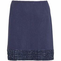 French Connection Crystal Shot Embellished Mini Skirt