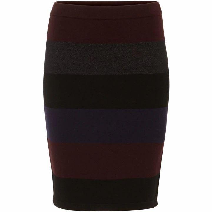 Phase Eight Cecelia Wide Stripe Knit Skirt