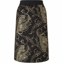 James Lakeland Gold Print Skirt