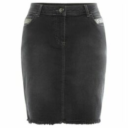Label Lab Denim beaded skirt