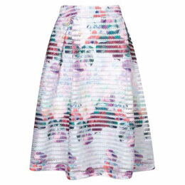 Yumi Floral Watercolour Fishnet Skirt