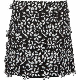 French Connection Fulaga Floral Lace Skirt