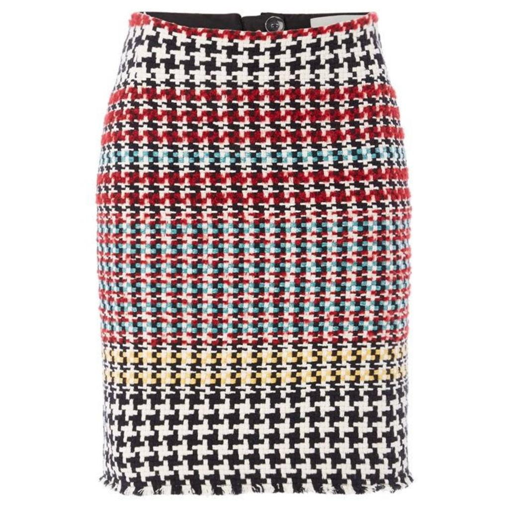 Oui Multi check skirt
