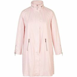 Chesca Ruched Collar Zip Detail Pearlised Raincoat