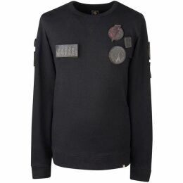 Pretty Green Removable Badge Crew Sweat