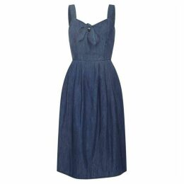 Yumi Tie Knot Denim Sundress
