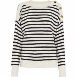 Whistles Side Button Relaxed Knit