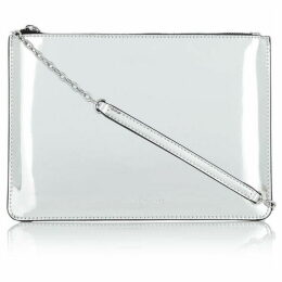 Armani Exchange Metallic patent pouch
