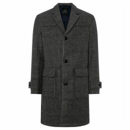 Armani Exchange Padded Wool Overcoat