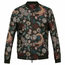 Ted Baker Queso Tiger Jacquard Bomber Jacket