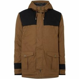 Native Youth Zip Up Contrast Panel Parka