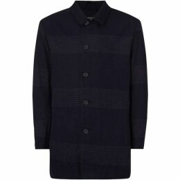 Native Youth Textured Panel Overcoat