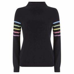 Mint Velvet Navy Multi-Stripe Knit