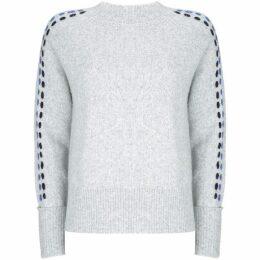 Mint Velvet Silver Grey Ladder Stitch Knit