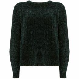 Mint Velvet Green Chenille Cropped Knit