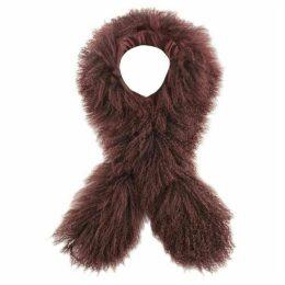 Mint Velvet Berry Curly Faux Fur Tippet