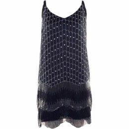Dex Clothing Beaded Fringe Slipdress
