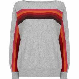Mint Velvet Grey & Rainbow Batwing Knit