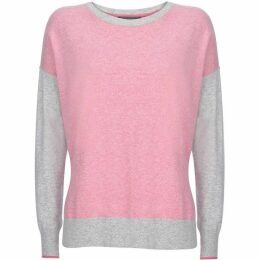 Mint Velvet Pink & Grey Blocked Knit