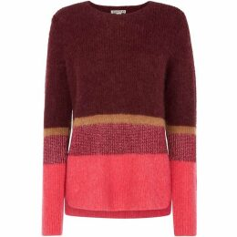 Whistles Stripe Sparkle Mohair Knit
