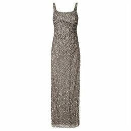 Adrianna Papell Beaded Long Dress
