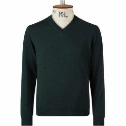 Chester Barrie Green V Neck Sweater