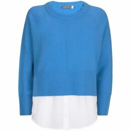 Mint Velvet Blue & Ivory Layered Knit