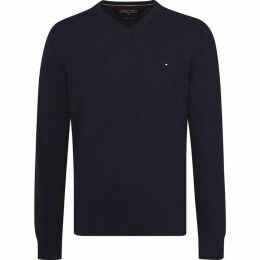 Tommy Hilfiger Classic Long Sleeve Vneck Sweater