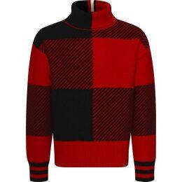 Tommy Hilfiger Bold Check Oversized Sweater