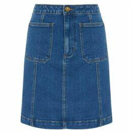 Warehouse Seam Detail Denim Mini Skirt