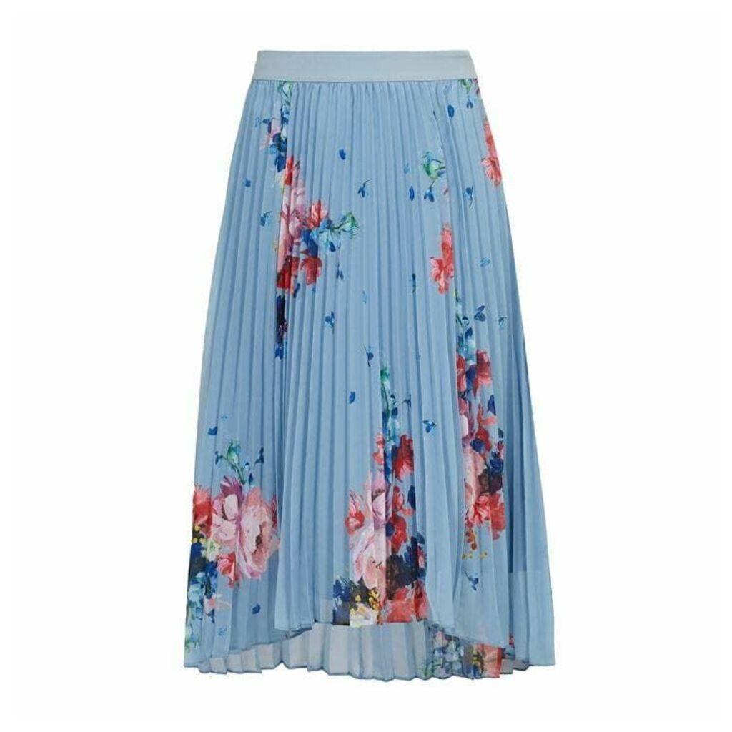 Ted Baker Harrpa Raspberry Ripple Pleated Midi Skirt