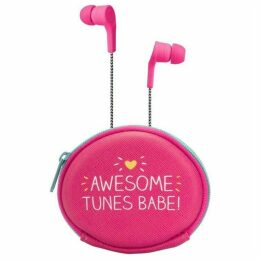 Happy Jackson Earbuds With Pouch `Awesome!`