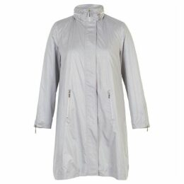 Chesca Pearlised Raincoat with Ruched Collar