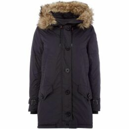 Polo Ralph Lauren Longline Parker With Detachable Fur Hood