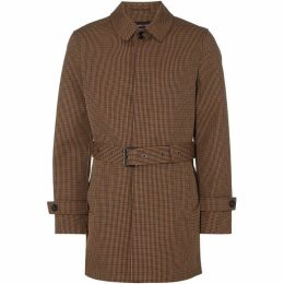 Michael Kors Houndstooth Check Bonded Overcoat