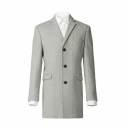 Limehaus Grey Melton Overcoat