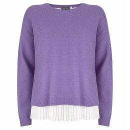 Mint Velvet Pleated Woven Layered Knit
