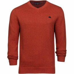 Raging Bull Big and Tall V-Neck Cott/Cash Sweater