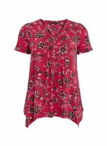 Pink Floral Print T-Shirt, Pink