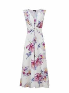 **Grace Pink Floral Maxi Dress, Purple