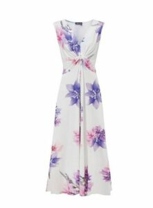 **Grace Purple Floral Maxi Dress, Purple