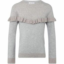 Rose and Wilde STELLA KW RUFFLE CHEVRON CREW NECK