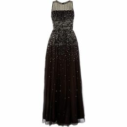 Adrianna Papell Mesh embellished gown